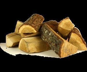 Eikenhout werkt zeer goed als haardhout voor de openhaard